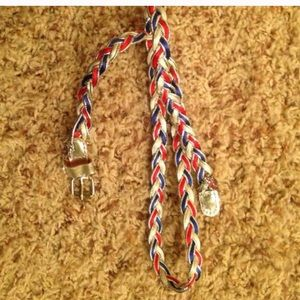 Justice girls red white and blue twist belt 12/14